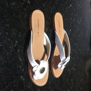 Madden Girl White Flower Sandals